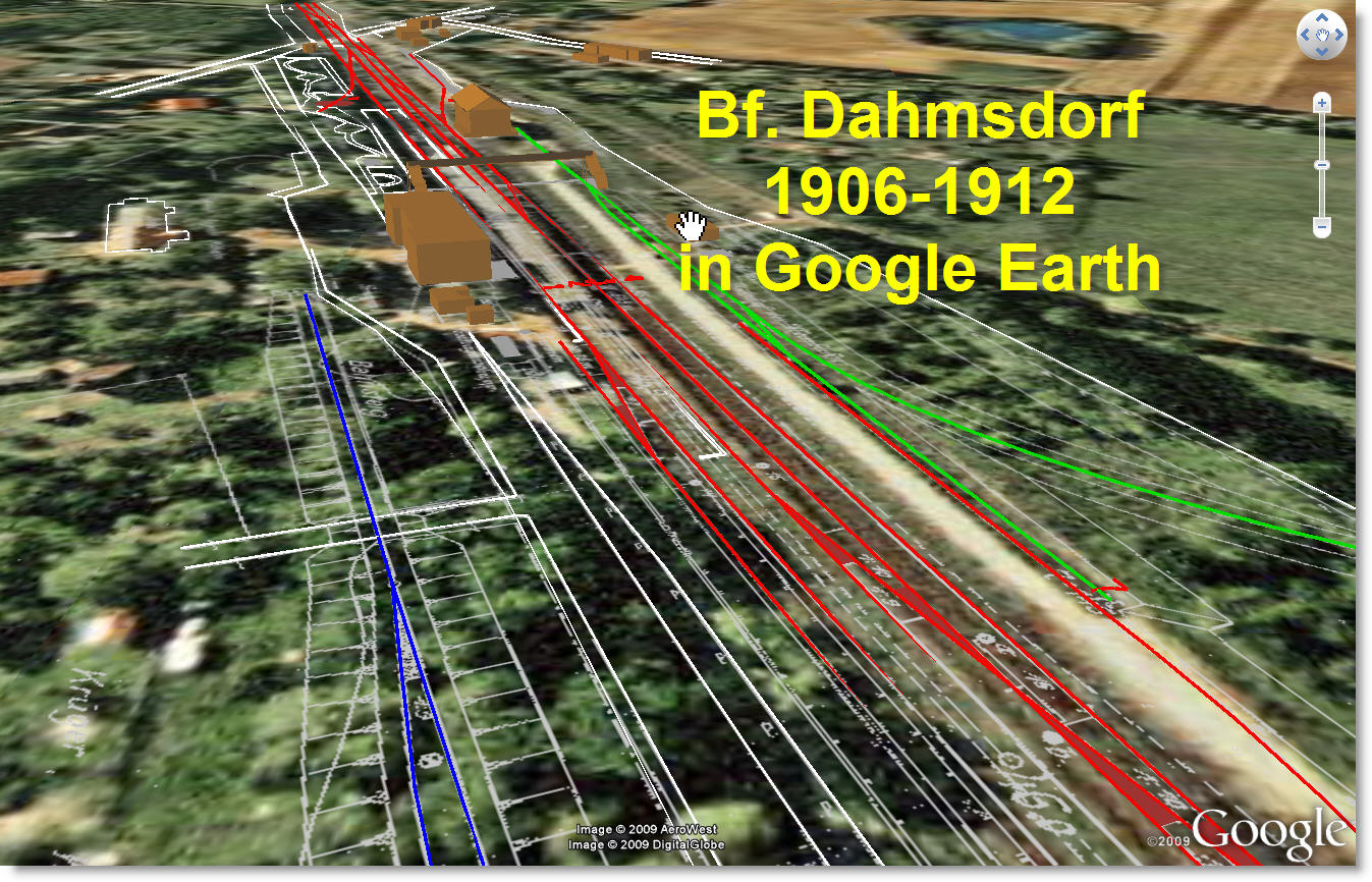 Bf. Dahmsdorf 1912 in Google Earth